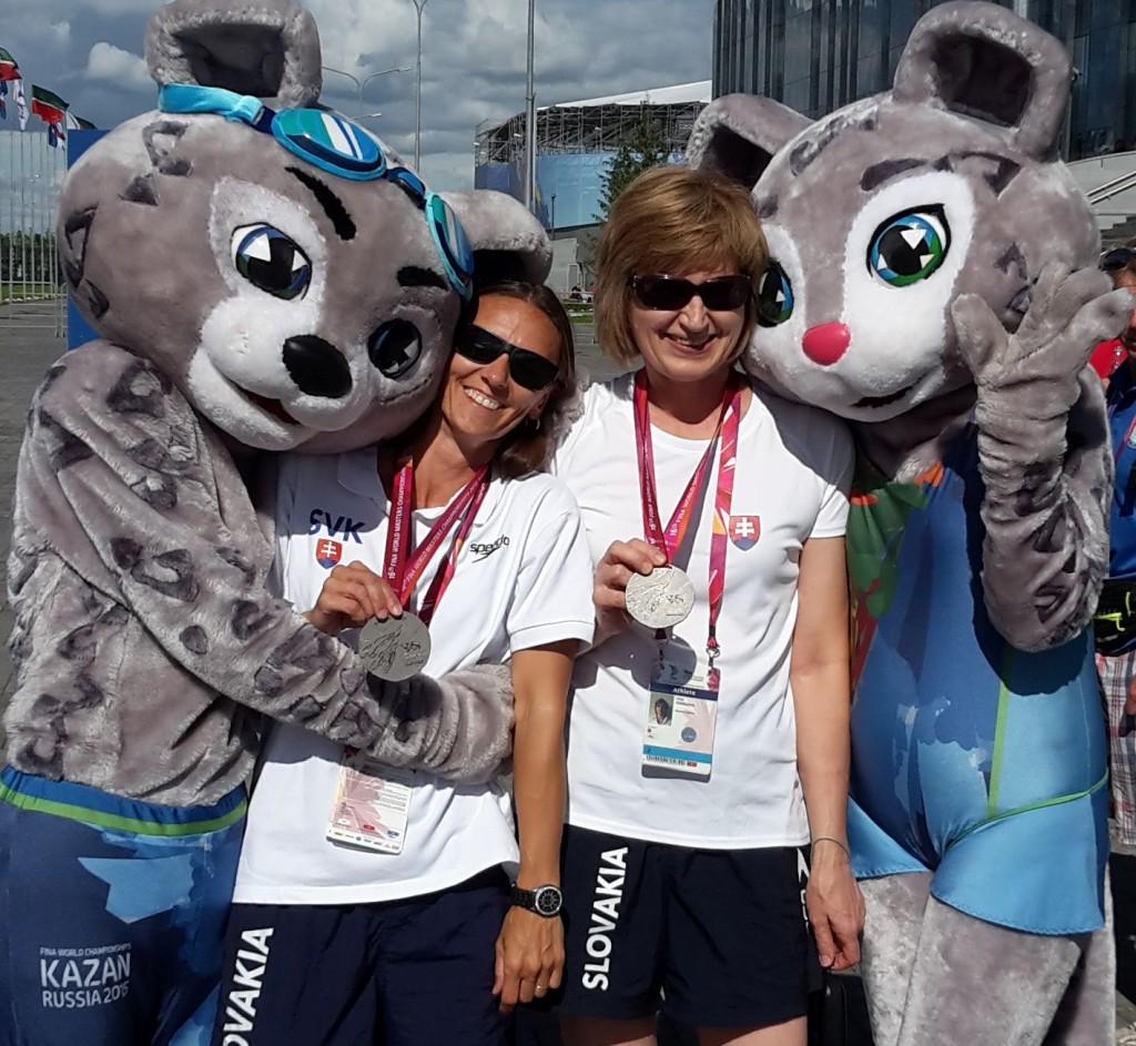 Bratislavské veteránske plavkyne - Majstrovstvá sveta v plávaní masters 2015 Kazaň, Rusko