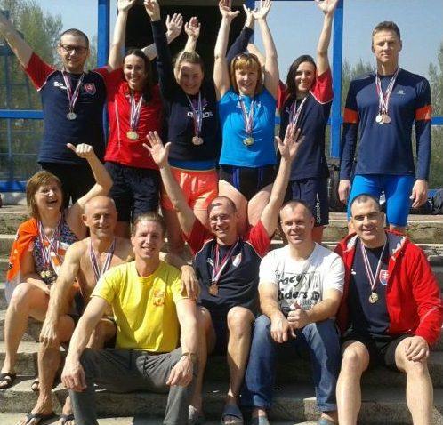 Členovia PVK Bratislava na Majstrovstvách Slovenska v plávaní masters 2017 v Bratislave
