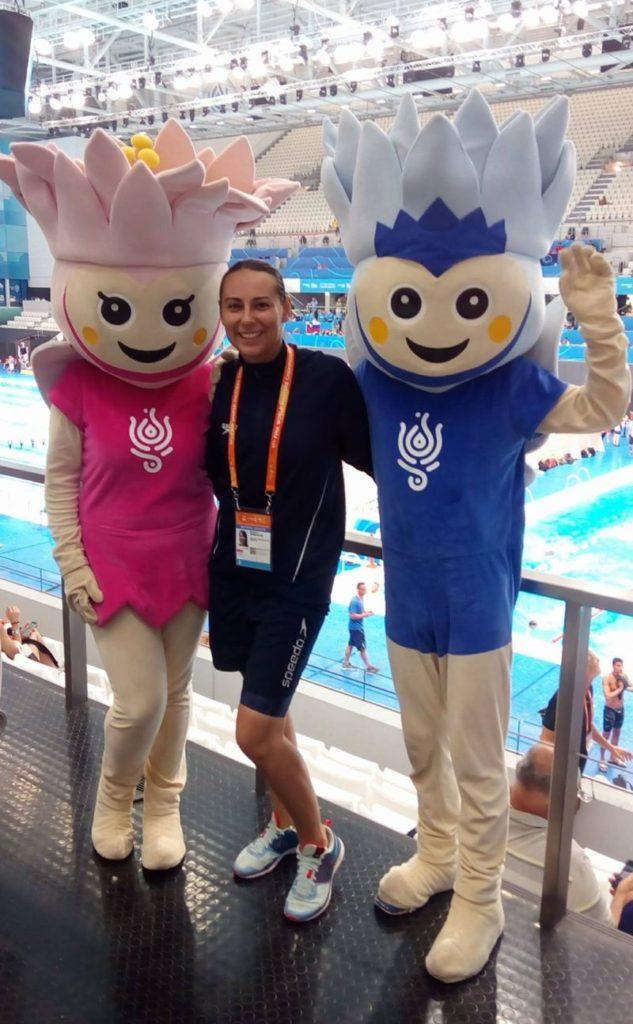 17. FINA Majstrovstvá sveta v plávaní masters v Budapešti v plaveckom komplexe Duna Arena, Lilly a Lally maskoti majstrovstiev
