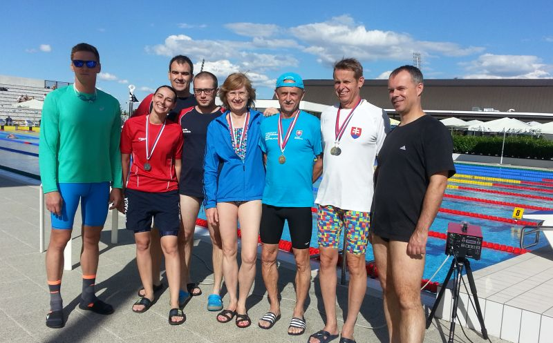 Členovia PVK Bratislava na 1. ročníku Slovakia Swimmming Masters Cup v x-bionic® Aquatic sphere v Čilistove
