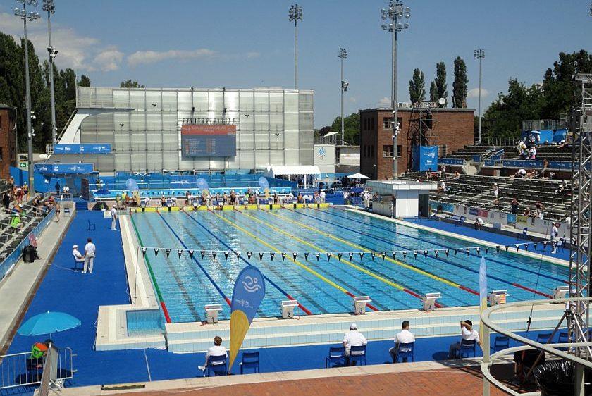Národný plavecký komplex A. Hajos na Margetinom ostrove v Budapešti