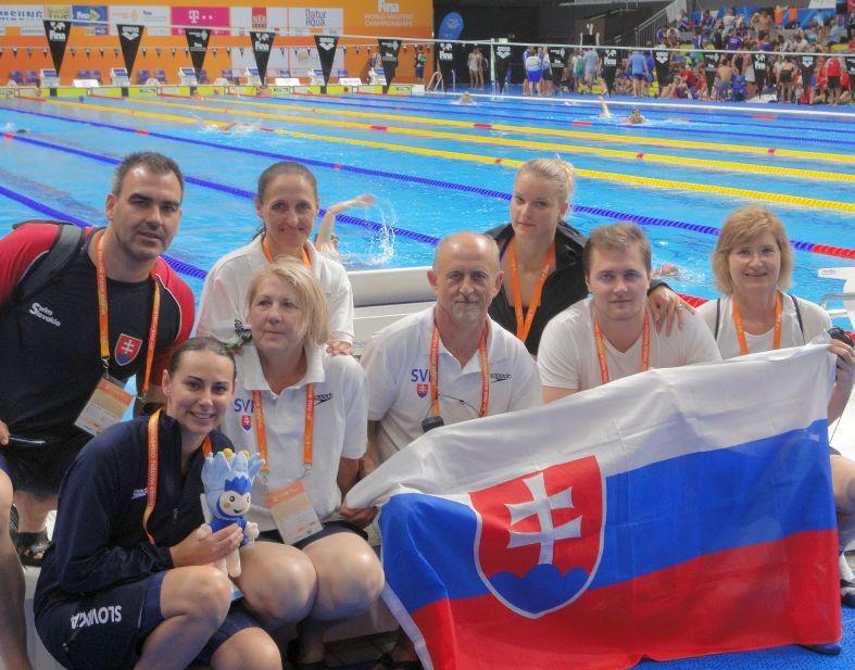Štafetové tímy PVK Bratislava na 17. Majstrovstvách sveta v plávaní masters 2017 v Duna aréne v Budapešti