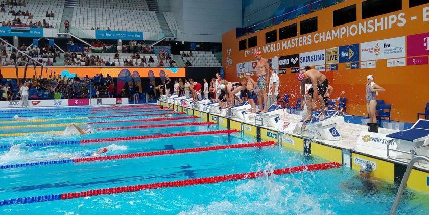 Štafetové preteky na 17. Majstrovstvách sveta v plávaní masters 2017 v Duna aréne v Budapešti