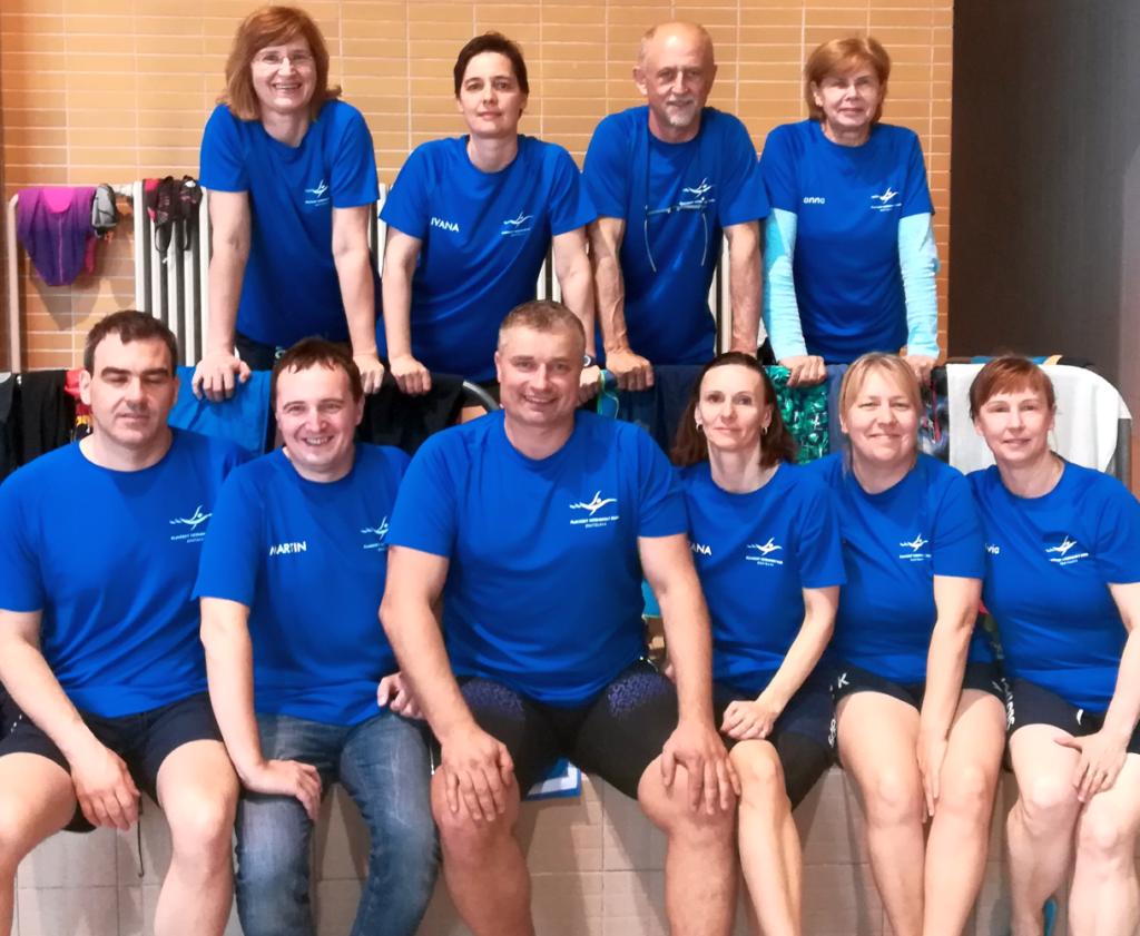 Masters plavci PVK Bratislava na pretekoch - Majstrovstvá Slovenska v plávaní masters 2018, Spišská Nová Ves