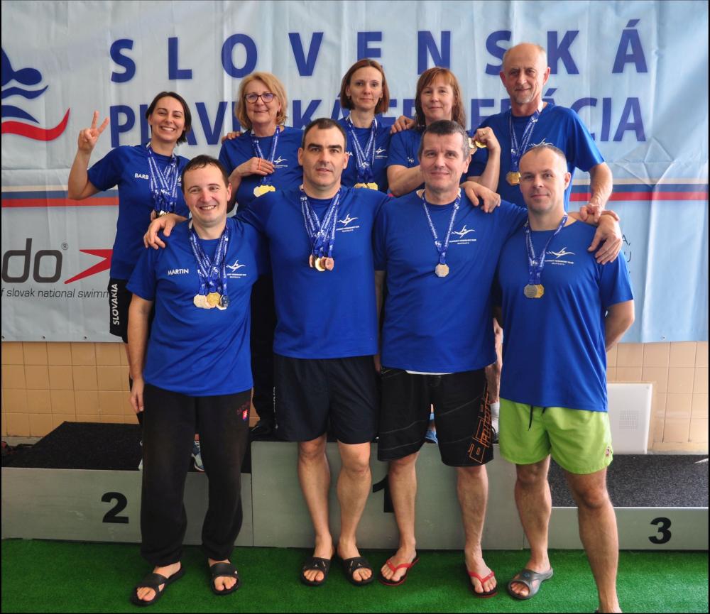 Masters plavci PVK Bratislava na Majstrovstvách Slovenska v plávaní masters 2019 v Košiciach