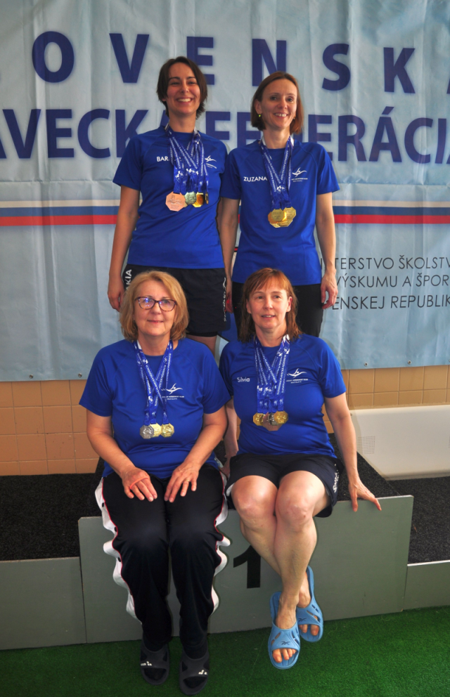 Úspešné masters plavkyne PVK Bratislava na Majstrovstvách Slovenska v plávaní masters 2019 v Košiciach