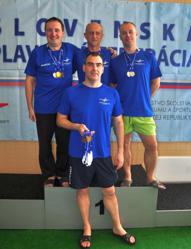 Úspešní masters plavci PVK Bratislava na Majstrovstvách Slovenska v plávaní masters 2019 v Košiciach